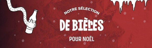 Sélection de bières noel - menu