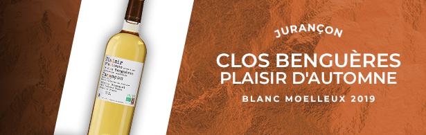 menu-Clos Benguères Plaisir d'Automne